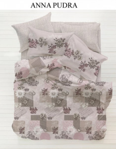 Lenjerie Bumbac 2 persoane ,Ana Maria ,Pink,4 piese