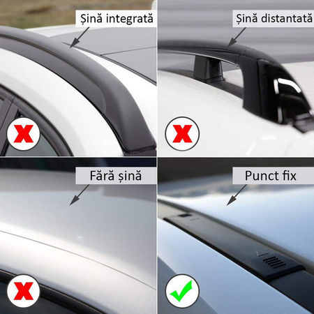 Bare portbagaj transversale dedicate BMW Seria 4 F32 F36 fabricatie de la 2013+