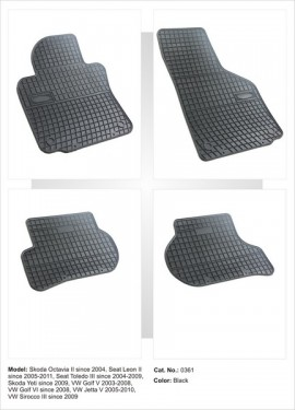 Covorase / Covoare / Presuri cauciuc SEAT TOLEDO 3 III fabricatie 2004-2009