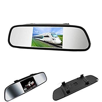 "Sistem senzori de parcare si camera mers inapoi cu display tip oglinda de 5"""