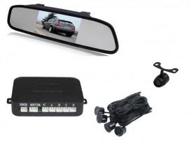 """Senzori parcare + camera marsarier cu display in oglinda 4.3"""" 12V"""
