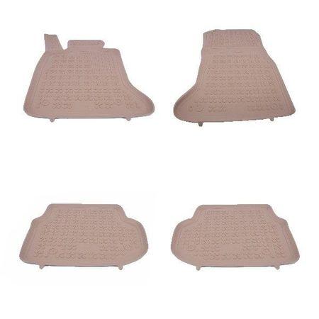 Covoare / Covorase / Presuri cauciuc tip stil tavita Crem BMW Seria 5 F10 F11 fabricatie 2010-2013