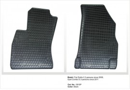 Covorase / Covoare / Presuri cauciuc FIAT DOBLO 2 II fabricatie de la 2008-> set fata