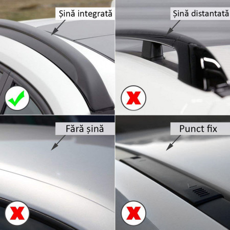 Bare portbagaj transversale tip wingbar dedicate Ford Galaxy 2 fabricatie 2006-2015
