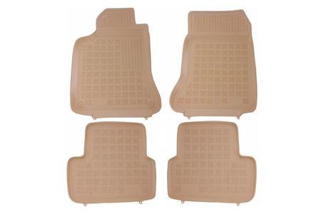 Covoare / Covorase / Presuri cauciuc tip stil tavita BEJ MERCEDES Clasa A W176 an 2012+