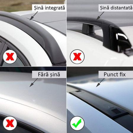 Bare portbagaj transversale dedicate CITROEN C6 fabricatie 2005-2012 Berlina Sedan