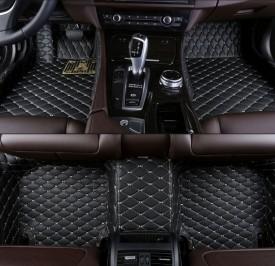 Covorase auto LUX - PIELE dedicate Volkswagen Passat B6 sau B7 2005-2014 ( cusatura bej )