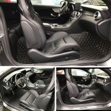 Covorase auto LUX - PIELE dedicate Audi Q7 2005-2015 ( cusatura bej )