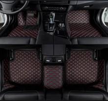 Covorase auto LUX - PIELE dedicate Volkswagen Touareg 2010-2017 ( cusatura rosie )