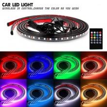 Kit banda LED SMD RGB Multicolor - sub masina cu telecomanda 12V