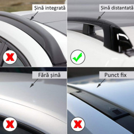 Bare portbagaj transversale dedicate BMW X3 E83 fabricatie 2003-2010