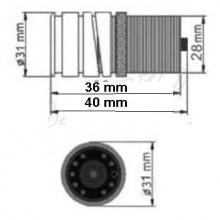 Camera video pentru mers inainte sau inapoi - mansarier - PAL cu infrarosu M2