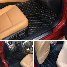 Covorase auto LUX - PIELE dedicate Volkswagen Tiguan 2007-2017 ( cusatura bej )