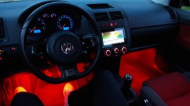 Kit interior 4 benzi 12.5cm LED RGB cu aplicatie telefon control BLUETOOTH