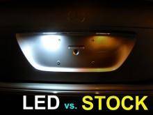 Lampa LED numar compatibila DACIA DUSTER 2009->