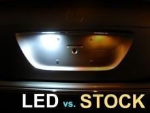 Lampa LED numar compatibila MERCEDES C-Class 2001-2007 W203 Sedan