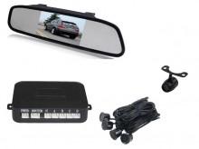 """Senzori parcare + camera marsarier cu display in oglinda 5"""" 12V"""