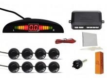 SET Senzori parcare fata spate 8 senzori cu afisaj