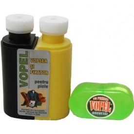 Vopsea pentru piele VOPEL (negru sau bej)