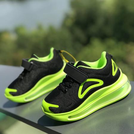"Pantofi sport copii ""iShopShoes"" COD: BLACK-GREEN-1"