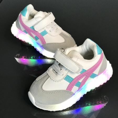 Pantofi copii cu luminite ASC-PNK
