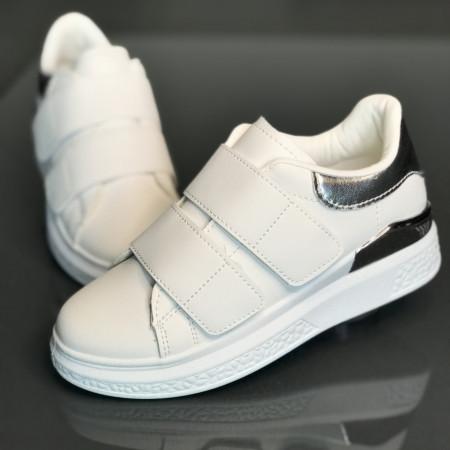 Pantofi copii JD-103-WHITE-SILVER