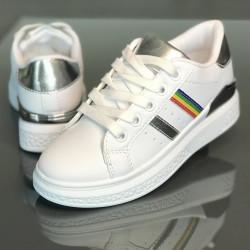 Pantofi copii 473-WHITE-SILVER
