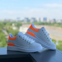 "Pantofi sport copii ""iShopShoes"" COD: WHITE-ORANGE-1"