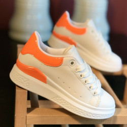 Pantofi copii WHITE-ORANGE-1