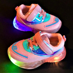 "Pantofi copii cu luminite ""iShopShoes"" COD: BA-PINK-1"