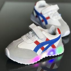 Pantofi copii cu led ASC-BLUE-RED