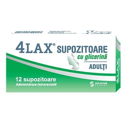 Poze 4LAX SUPOZITOARE GLICERINA ADULTI 2350MG 12BUC SOLACIUM PHARMA
