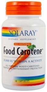 FOOD CAROTENE™ 25000UI 30 capsule Secom