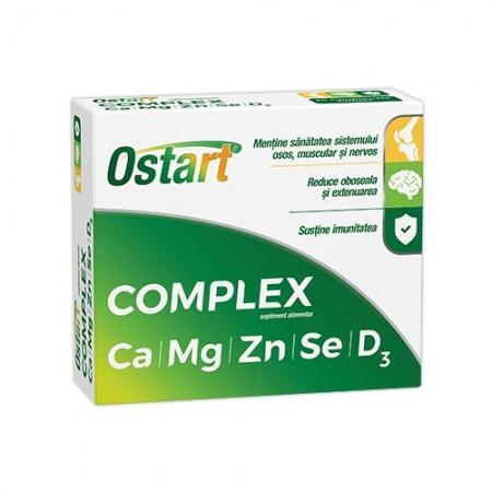 Poze OSTART COMPLEX CA+MG+ZN+SE+D3 20CPR FITERMAN