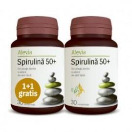 SPIRULINA 50+  30CPR+30CPR PACHET ALEVIA