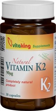 Vitamina K2 (formula vegetariana) - 30 capsule Vitaking