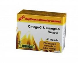 OMEGA-3 SI OMEGA-6 VEGETAL 40cps HOFIGAL