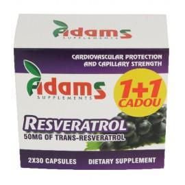 RESVERATROL 50MG 30CPS 1+1 GRATIS ADAMS VISION