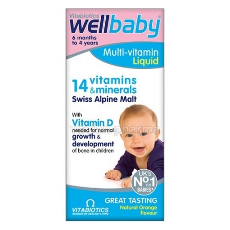 Poze WELLBABY MULTI-VITAMIN LICHID 150ML VITABIOTICS LTD