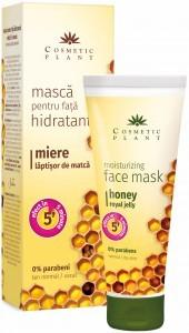 Masca hidratanta pentru fata cu miere si laptisor de matca (50 ml) COSMETICPLANT