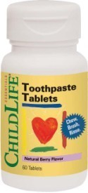 TOOTHPASTE TABLETS (copii) CHILDLIFE 60tb SECOM