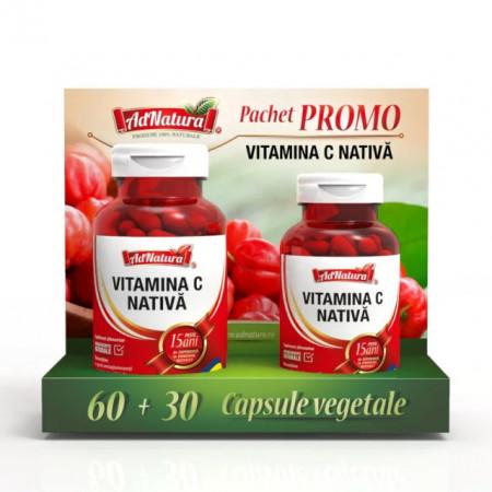 VITAMINA C NATIVA 60CPS+30CPS PROMO ADSERV