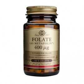 FOLATE (AS METAFOLIN) 400mcg tabs 50tb SOLGAR