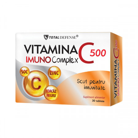 VITAMINA C 500MG IMUNOCOMPLEX 30CPR COSMO PHARM