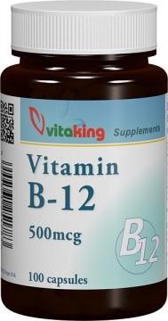 Vitamina B12 (cianocobalamină) 500mcg - 100 capsule Vitaking