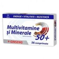 MULTIVITAMINE+MINERALE+GINSENG 50+ 56CPR ZDROVIT