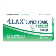 4LAX SUPOZITOARE GLICERINA ADULTI 2350MG 12BUC SOLACIUM PHARMA