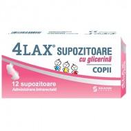 4LAX SUPOZITOARE GLICERINA COPII 1400MG 12BUC SOLACIUM PHARMA