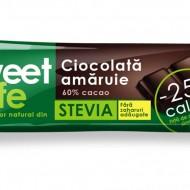 CIOCOLATA AMARUIE&INDULCITOR STEVIE 25GR SWEET&SAFE SLY NUTRITIA