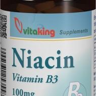 Vitamina B3 (niacină) 100mg - 100 comprimate Vitaking